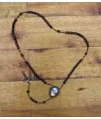 Terço de madeira medalhinha do livrão